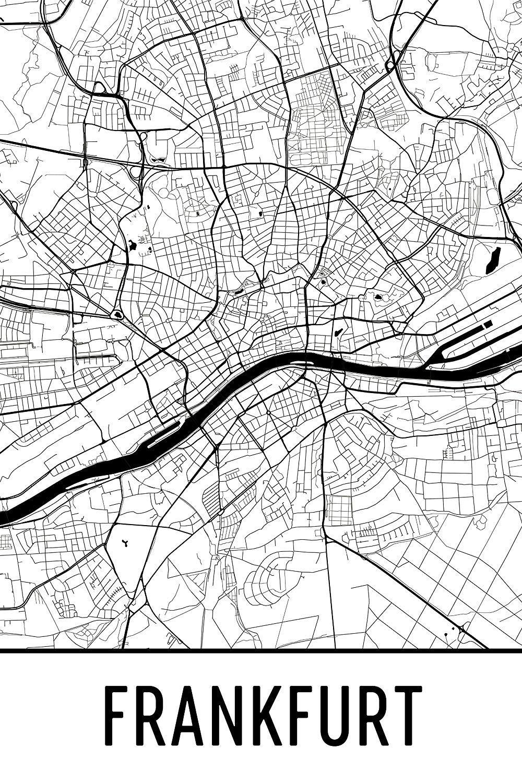 Amazon Com Frankfurt Print Frankfurt Art Frankfurt Map Frankfurt