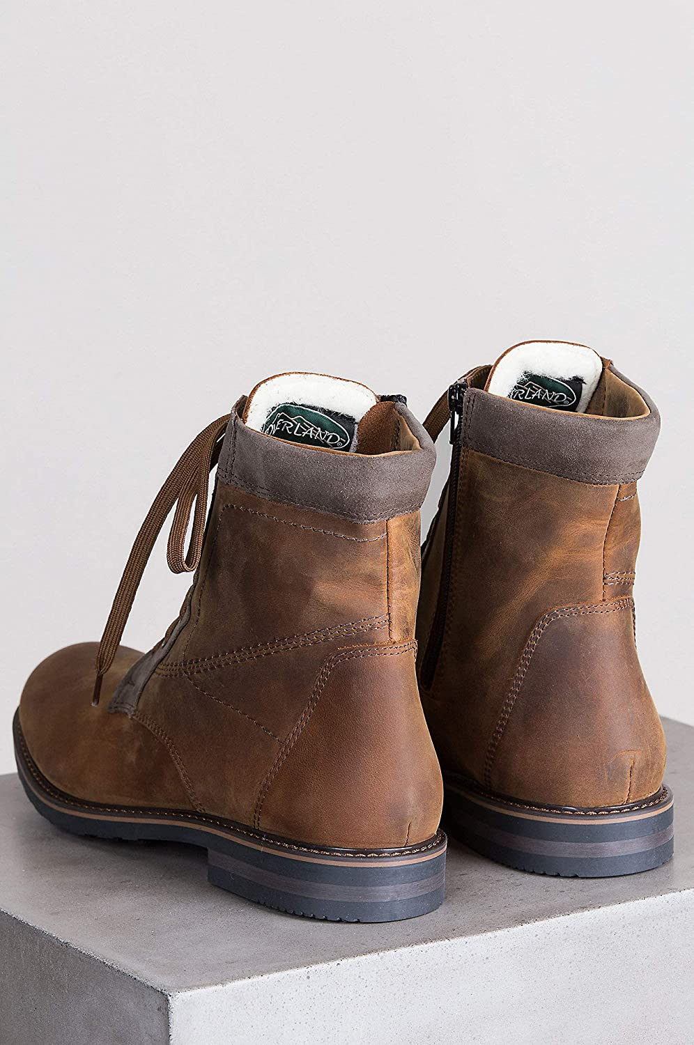 474ffc89caa3ca Amazon.com | Overland Sheepskin Co Men's Isaac Shearling-Lined Waterproof  Nubuck Leather Boots | Boots
