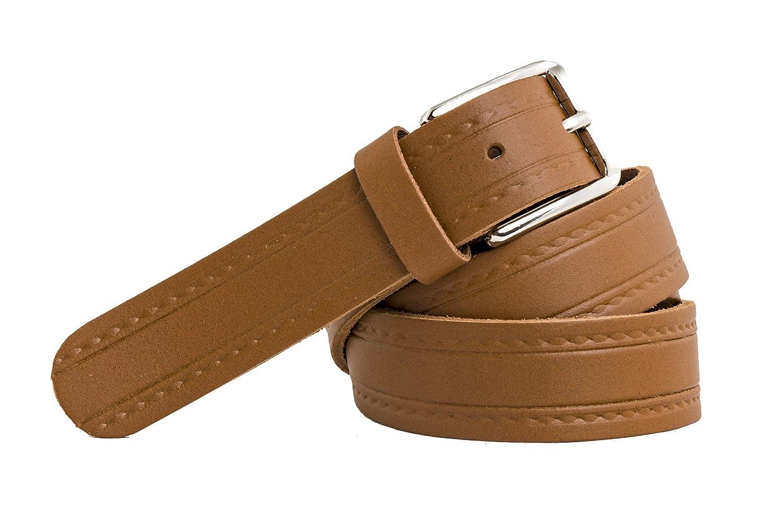 Cintura in pelle qualit/à tedesca shenky diversi colori e motivi 3 cm
