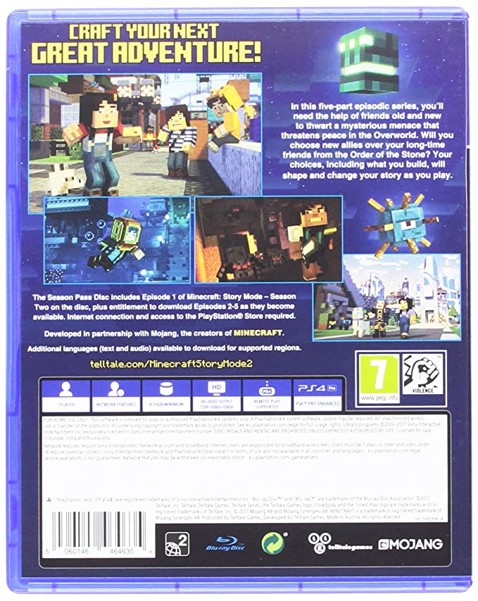 Buy Minecraft Story Mode Season 2 Pass Disc Ps4 Online At Low