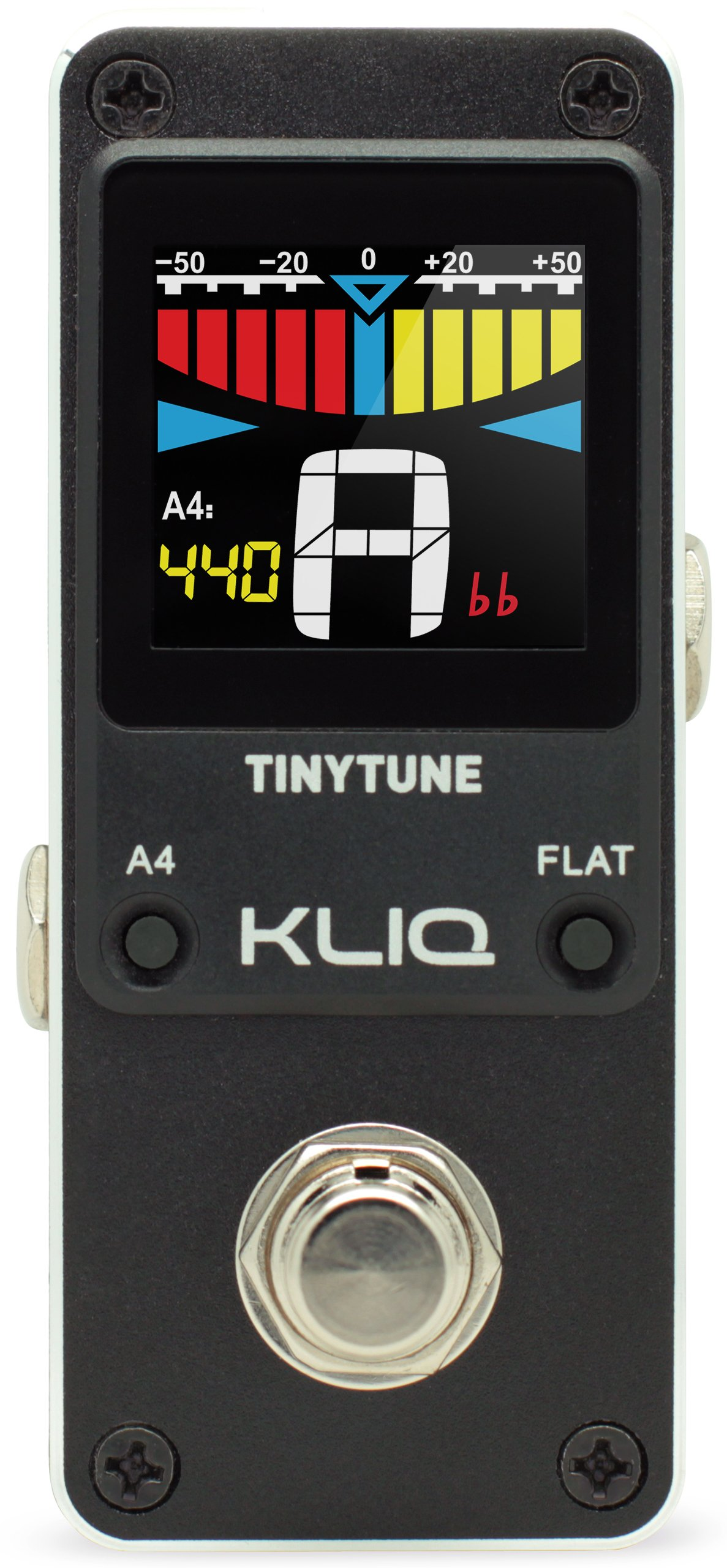 kliq tinytune mini chromatic tuner pedal for guitar bass 603895700040 ebay. Black Bedroom Furniture Sets. Home Design Ideas
