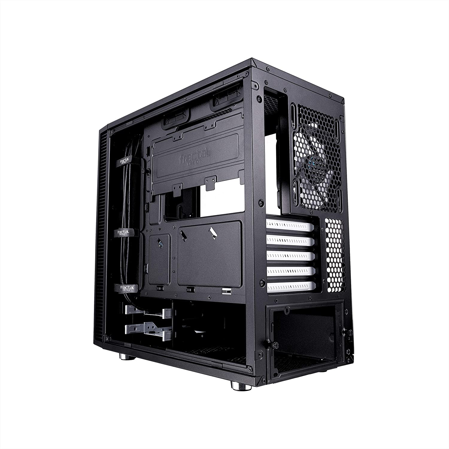Optimized for High Airflow and Fractal Design Define Mini C Tempered Glass mATX Mini Tower Computer Case PSU Shroud 2X Fractal Design Dynamix X2 GP-12 120mm Silent Fans Included Black