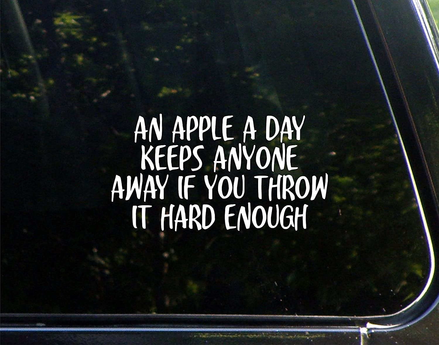 an Apple A Day Keeps Anyone Away If You Throw It Hard Enough - 7