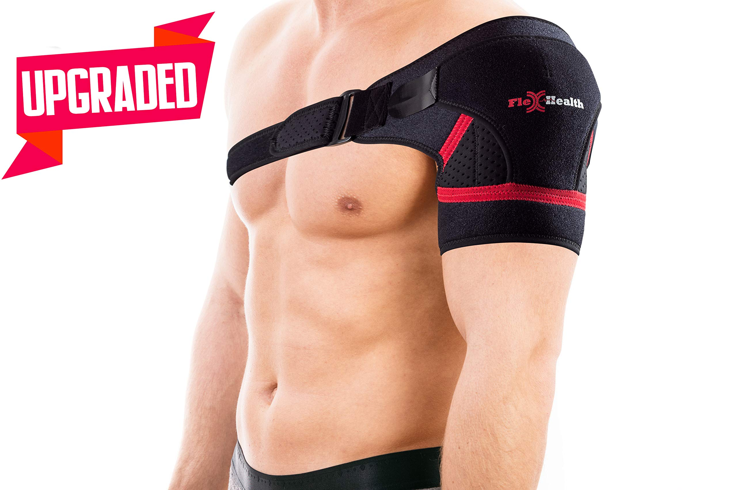 Support Shoulder Brace for Women and Men   3-Size Shoulder Immobilizer Compression Sleeve to Protect Rotator Cuff + AC Joints   Prevent Injuries & Relieve Sprain Pain and Soreness   Great GlFT