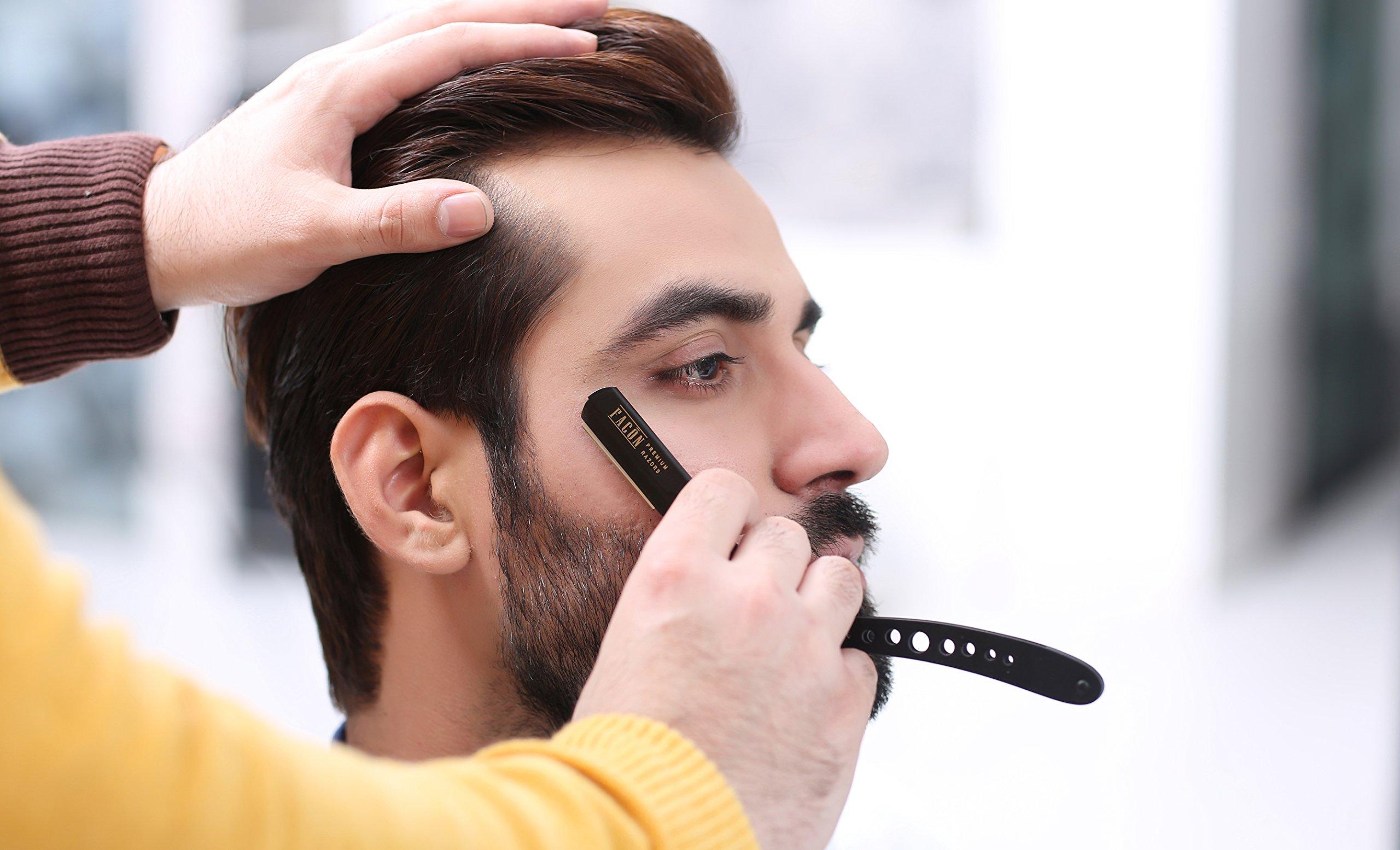 100 BLADES + Facón Professional Classic Straight Edge Barber Razor - Salon Quality Cut Throat Shavette by Facón Razors (Image #5)
