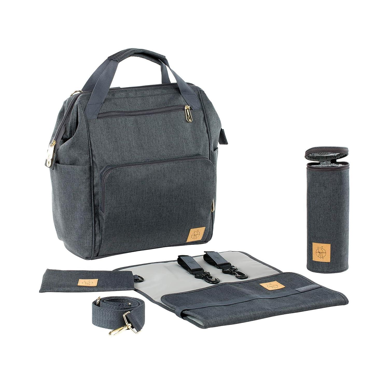 Lässig 1103010222 Wickelrucksack Glam Goldie Backpack, grau Laessig GmbH