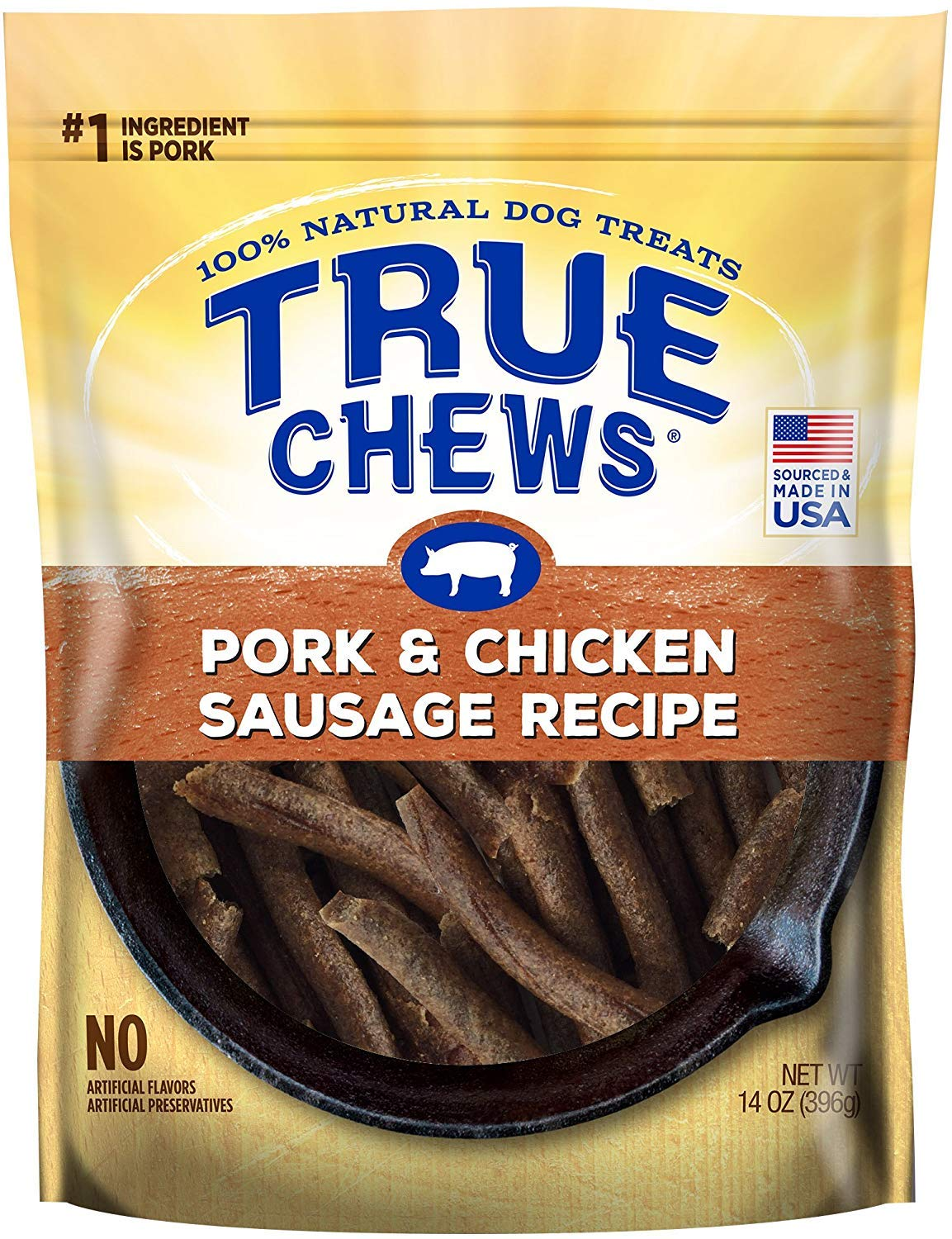 True Chews Pork Chicken Sausage Recipe Dog Treats