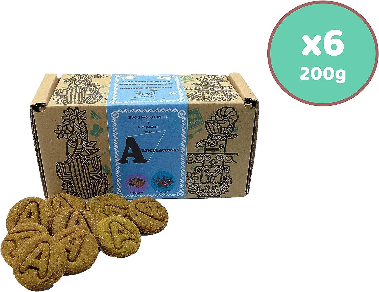 Waniyanpi Snacks para Perros con Problemas de articulaciones 1,2kg (6 Cajas x 200g)|con harpagofito, Zanahoria Fresca y Aceite de Salmón.: Amazon.es: Productos para mascotas