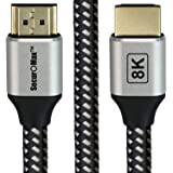 HDMI Cable (8K, 4K, HDCP 2.2, HDR, ARC, 48Gbps) with Braided Cord, 6 Feet