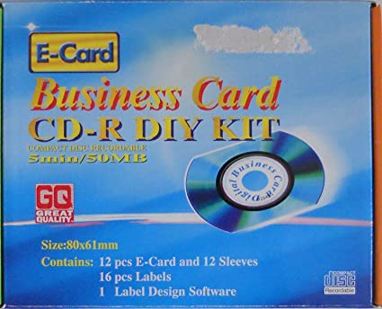 Amazon business card cd r diy kit home audio theater business card cd r diy kit reheart Images