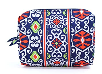 Amazon.com   Vera Bradley Large Cosmetic (Sun Valley)   Cosmetic Bags    Beauty 3be04eb25e5e9