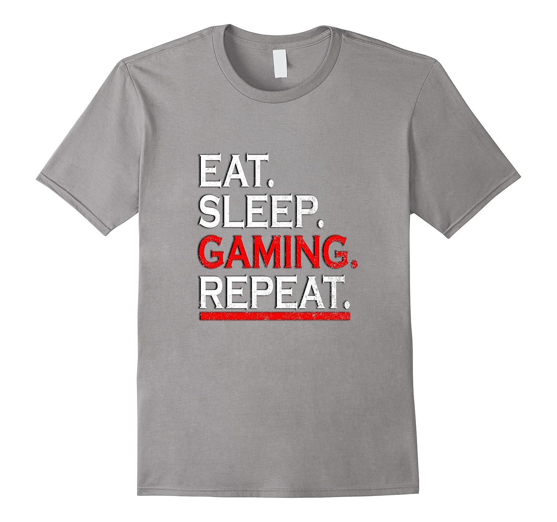 EAT SLEEP GAMING REPEAT T-SHIRT-TD