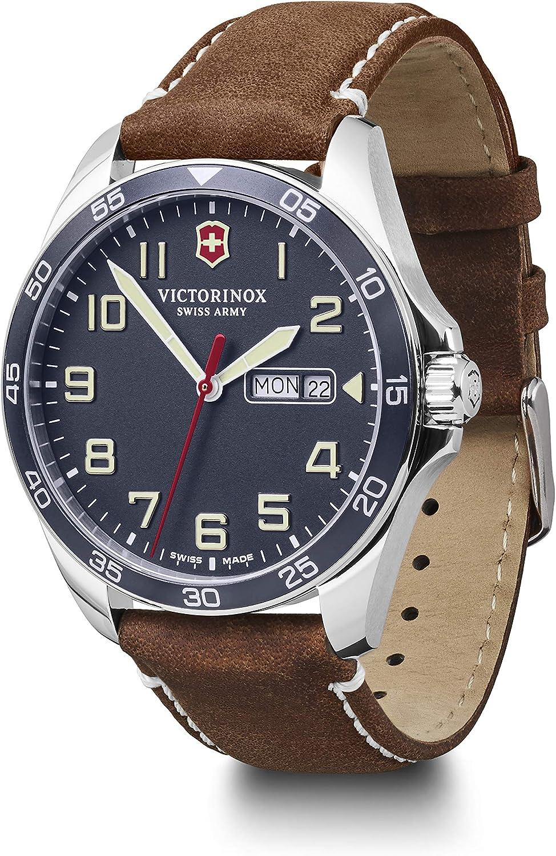 Victorinox Hombre Field Force - Reloj de Acero Inoxidable de Cuarzo analógico de fabricación Suiza con día/Fecha 241848