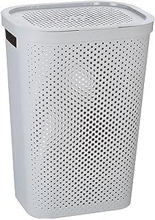 Curver 231008 - Cesta de ropa Infinity, 59 L, con asas, color gris