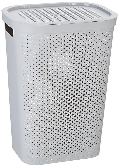 Curver 231008 - Cesta de ropa Infinity, 59 L, con asas, color gris ...