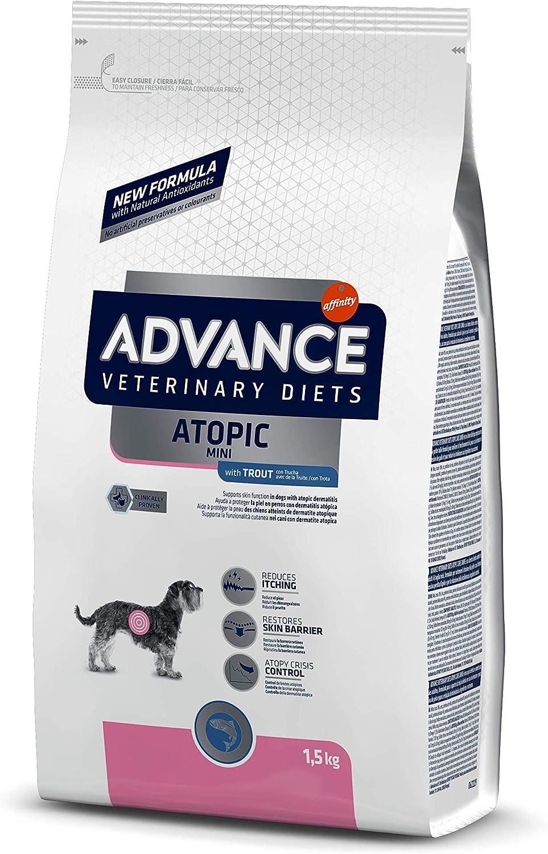ADVANCE Veterinary Diets Atopic - Pienso para Perros Mini con Problemas Atópicos - 1,5Kg