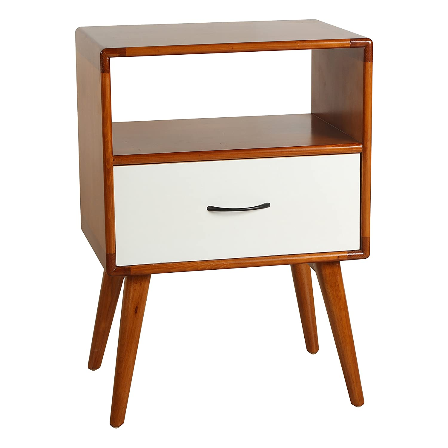 Superb Amazon.com: Porthos Home Andrew Mid Century Side Table, White: Kitchen U0026  Dining