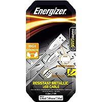 Energizer Lightning Zinc Steel Cables, High Strength, 1.2m, Silver, (C14UBLIGSLTW)