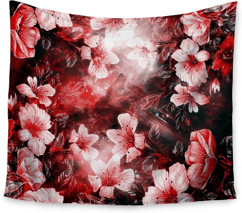 KESS InHouse Shirlei Patricia Muniz Camouflage Black Green Wall Tapestry 68 x 80