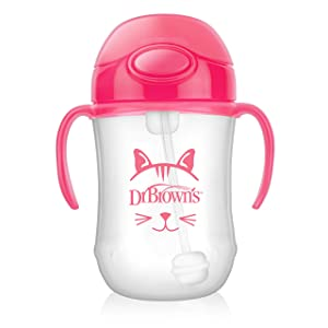 Dr. Brown's Baby's First Straw Cup, Cute Critters Pink, 9 ounce, Single