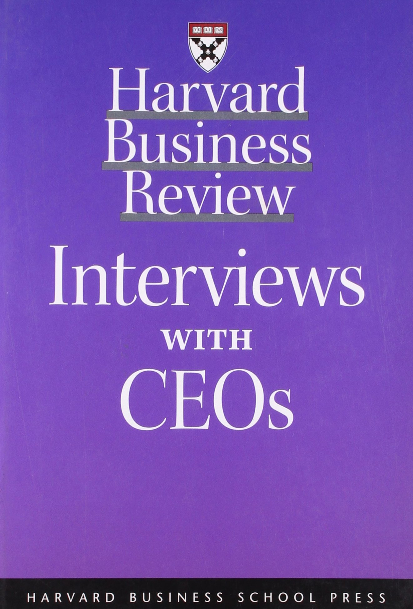 Read Online Harvard Business Review: Interviews with CEOs pdf epub