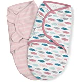 SwaddleMe Original Swaddle – Size Large, 3-6 Months, 2-Pack (Feather Stripe)