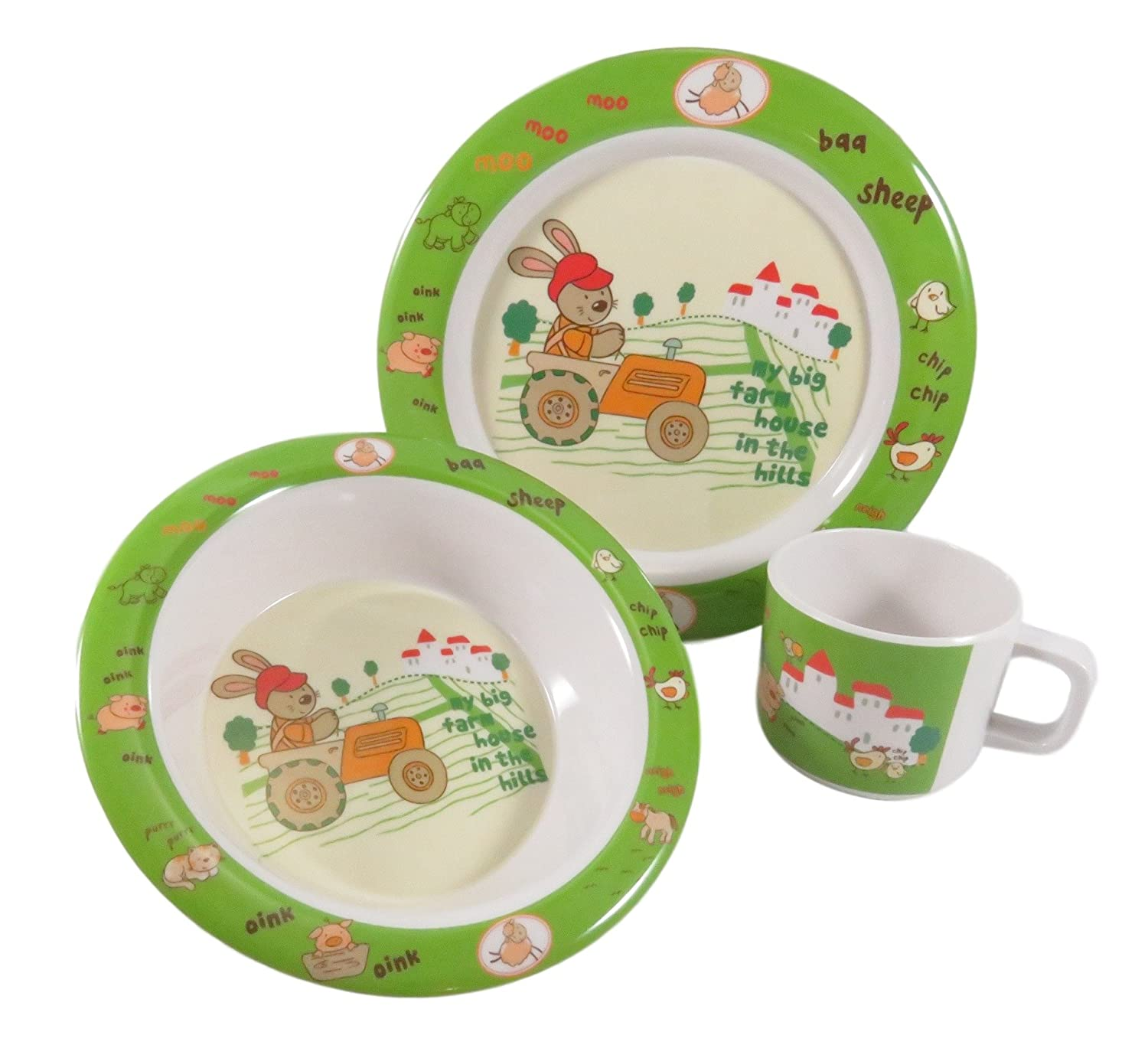 Dishes Collection Here Baby Cartoon Animals Feeders Children Food Plate Dishes Tableware Dining Table Food Plate Baby Feeding Supplies Mother & Kids