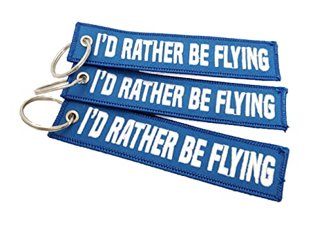 Amazon.com: CG KeyTags Id Rather Be Flying - Llavero de ...