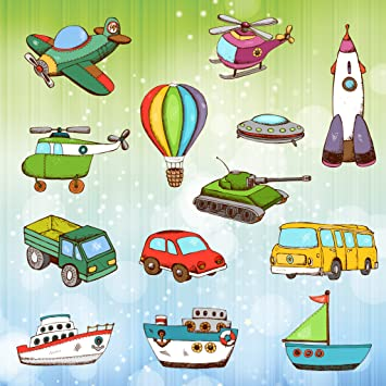 Vehicles And Cars Coloring Pages For Toddlers And Kids Land Air Sea And Construction Vehicles