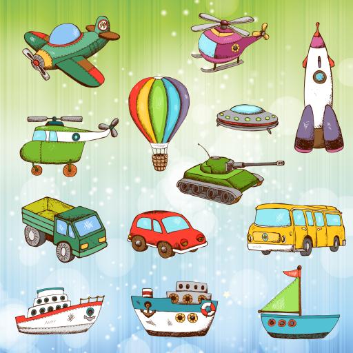 Vehículos y coches para colorear para niños y pequeños