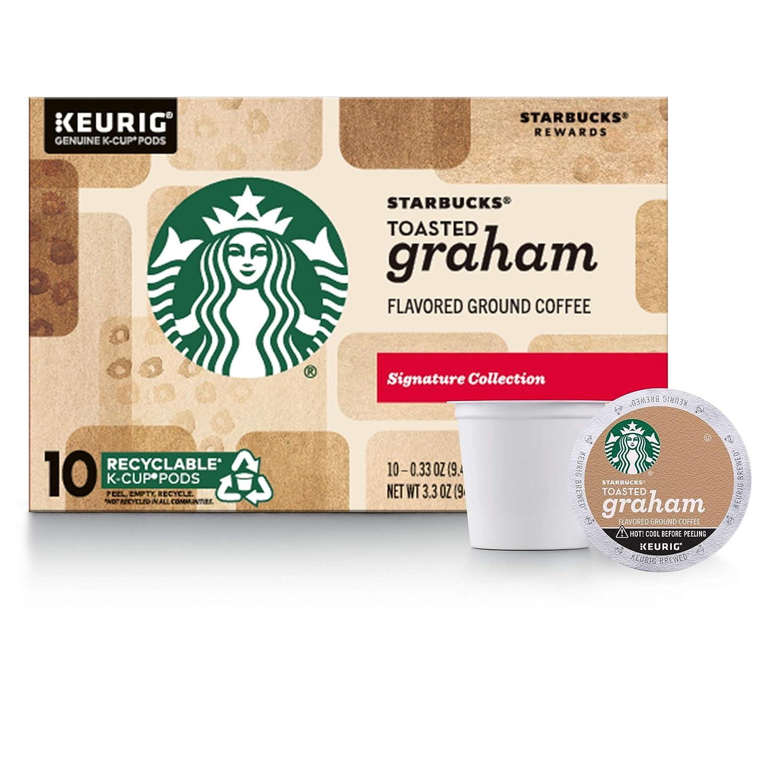 Starbucks Toasted Graham Keurig Pods, Light Roast Coffee - (10 Single Serve K-Cups)