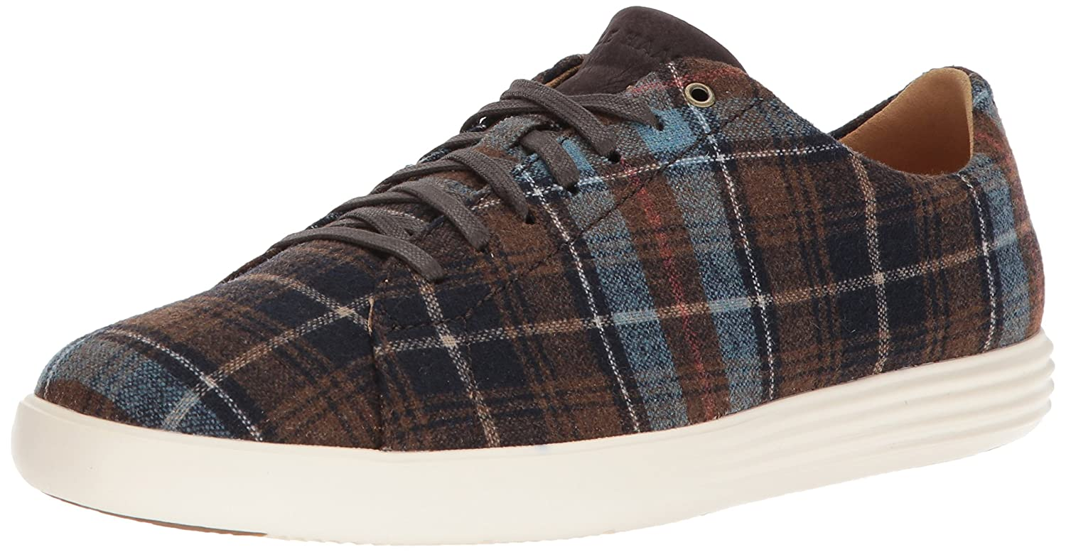 Holiday Plaid Dark Roast Ivory Cole Haan Men's Grand Crosscourt II Sneaker
