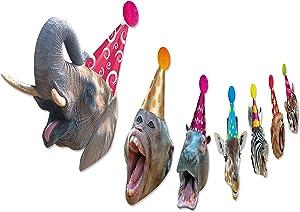 Safari Animal Birthday Garland, Jungle Animal Portrait Bday Banner, Wild One, Zoo Theme Party Decor