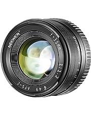 Neewer 35mm F1,2 Apertura Grande Prime APS-C Lente de Aluminio Compatible con Sony E Mount Mirrorless Cámaras A7III A9 NEX 3 3N 5 NEX 5T NEX 5R NEX 6 7 A5000 A5100 A6000 A6100 A6300 A6500