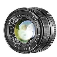 Neewer Obiettivo Prime a Lunghezza Focale Fissa 35mm F1.2 APS-C Apertura Larga in Alluminio, Compatibile con Fotocamere Mirrorless E-Mount Sony A6500 A6300 A6100 A6000 A5100 A5000 A9 NEX 3 NEX 3N NEX 5 NEX 5T NEX 5R NEX 6 7