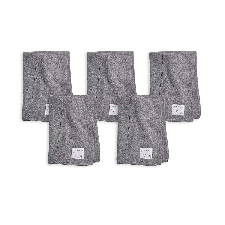 Heather Grey Burp Cloths Burts Bees Baby 3-Pack Extra Absorbent 100/% Organic Cotton Burp Cloths