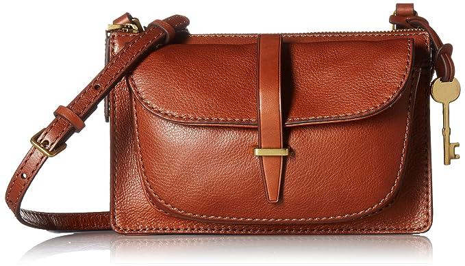 7e61d0ff412a24 Fossil Ryder Small Crossbody Bag, Brown: Handbags: Amazon.com