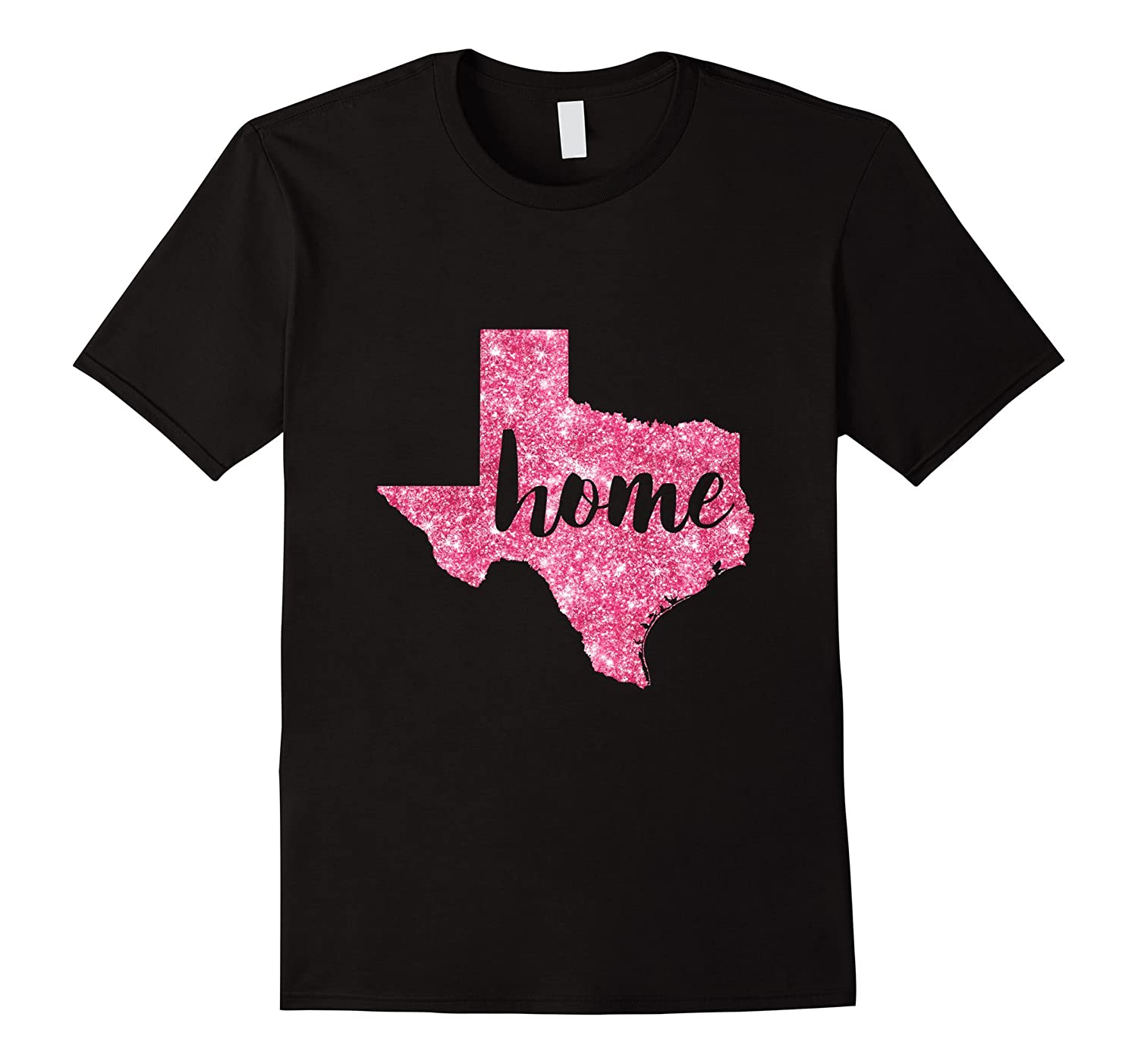 Pink Glitter Texas Home Shirt-Art