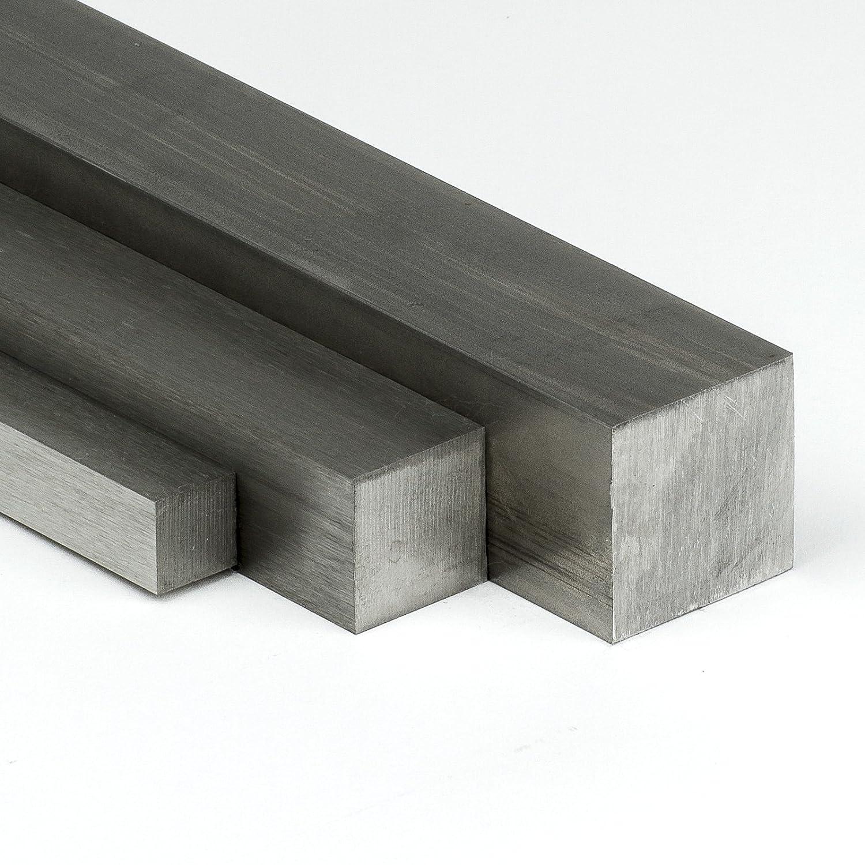 Edelstahl Vierkant VA V2A - 6x6mm - Länge 1600mm - Edelstahl Vierkantstab 1.4301 blank h11 - Edelstahl Vierkantmaterial auf Zuschnitt Heck & Sevdic GbR