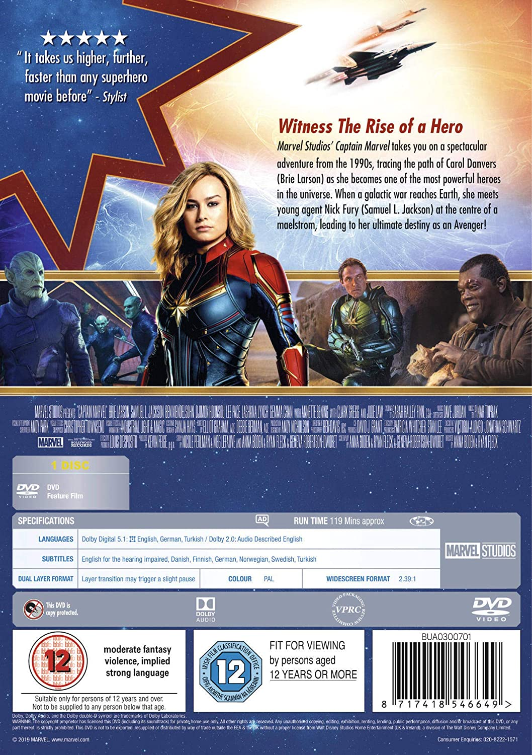 Captain Marvel [DVD] [2019]: Amazon co uk: DVD & Blu-ray