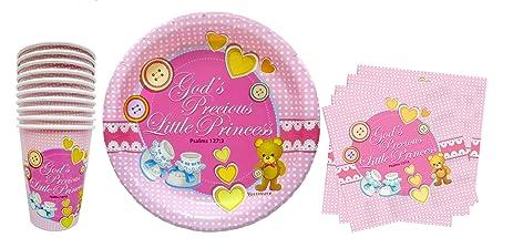 Amazon.com: Baby Girl First 1st Birthday, Shower, Christening ...