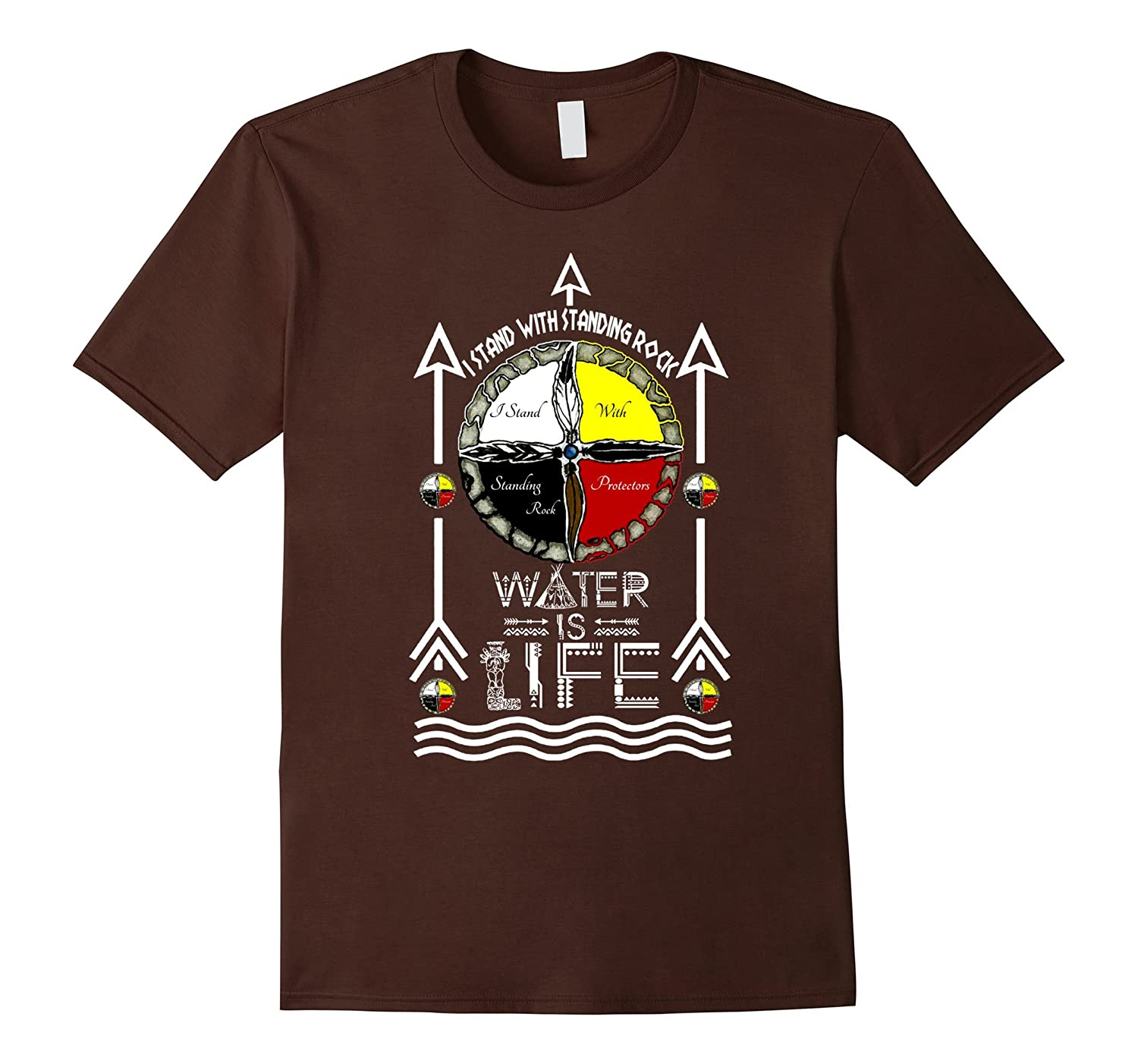 I Stand With Standing Rock Sioux tribe t-shirt protecors-TD