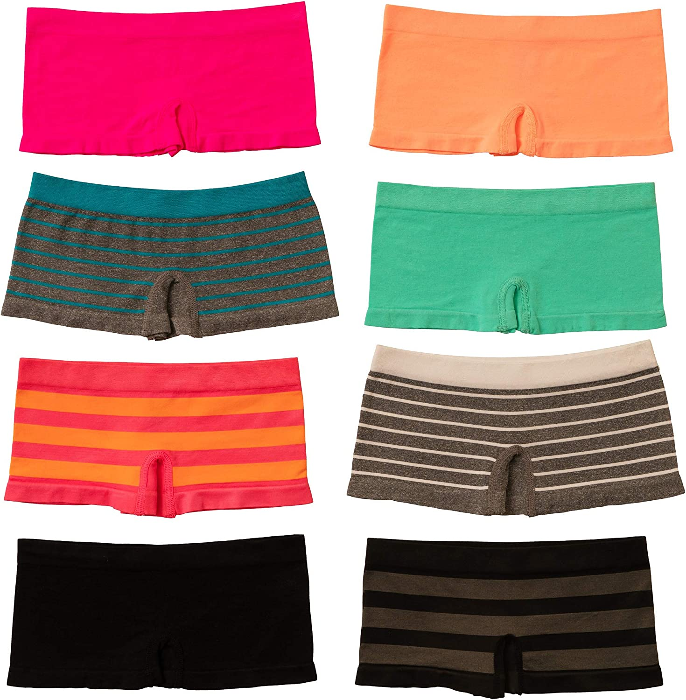 Alyce Intimates Seamless Girls Panties, Pack of 8