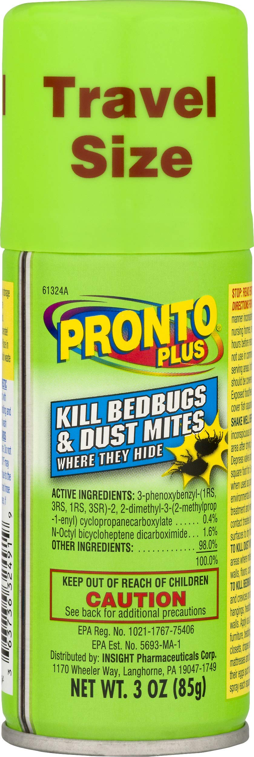 Pronto Plus | Kills Bedbugs & Dust Mites | 3 oz | Pack of 4