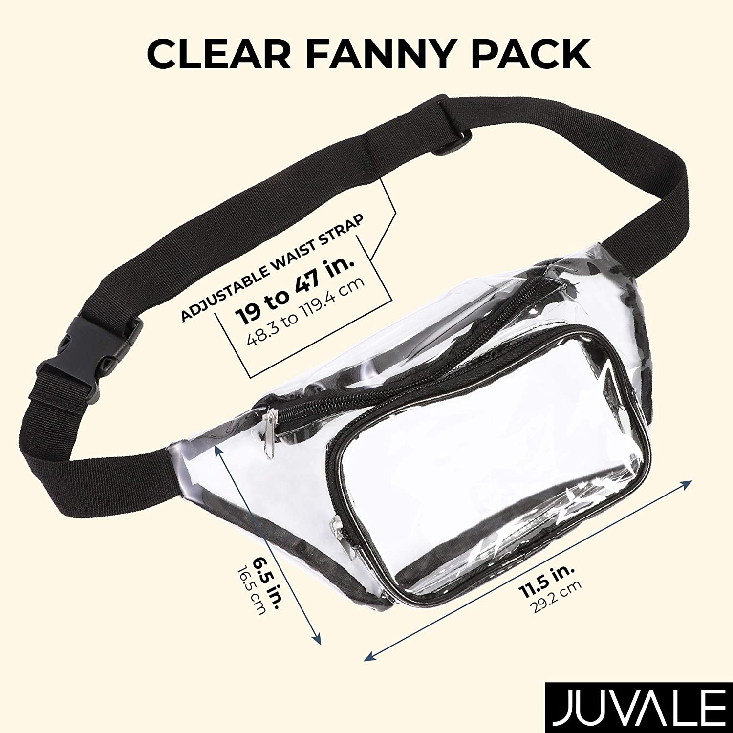 Stadium Approved Fanny Pack Clear, 11.5 x 6 Inches