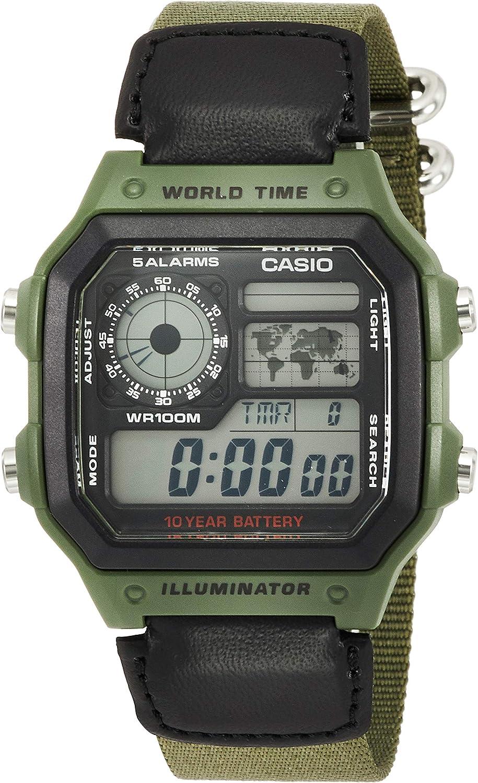 Casio Classic Green Watch AE1200WHB-3B