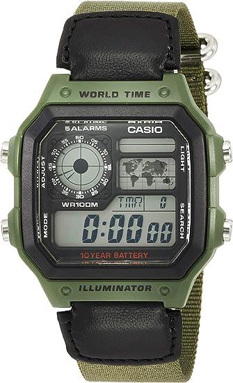 Casio Classic Green Watch AE1200WHB 3B