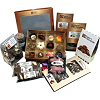 Poppy's Chocolate Connoisseurs Basket - Gift Hamper of Assorted Hand Made Gourmet Chocolates - Family Mother's Day Gift Box - Australian Made