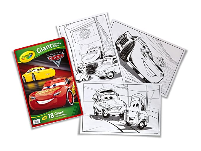 Crayola Cars 3 Giant Colouring Page: Amazon.co.uk: Toys & Games