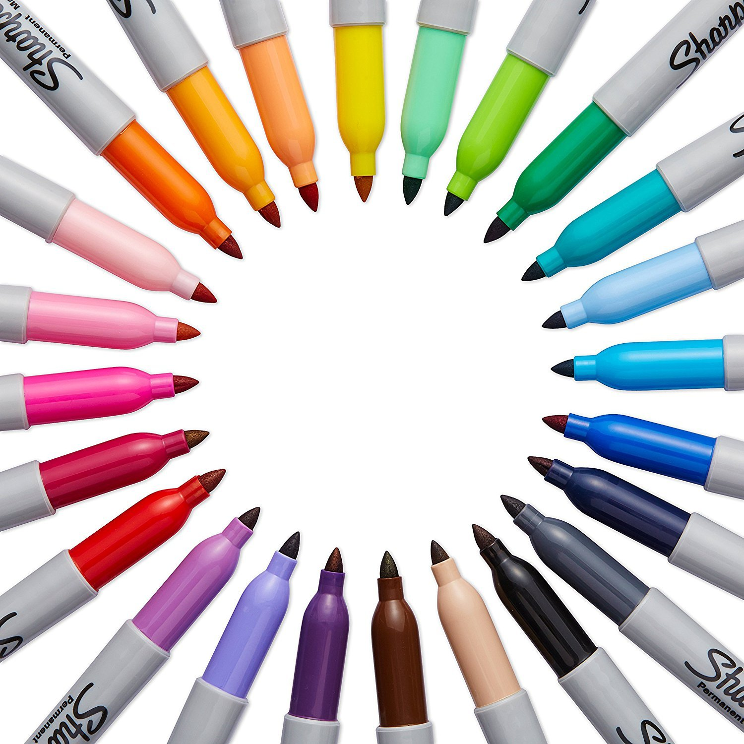 Sharpie 75846 Fine Point Permanent Markers, Assorted Colors; 3 Sets of 24 Markers, Total 72 Markers; Proudly Permanent Ink Marks on Paper, Plastic, Metal and Most Other Surfaces by Sharpie (Image #3)